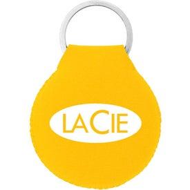 Branded Neoprene Disc Key Chain