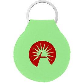 Logo Neoprene Disc Key Chain