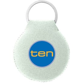 Neoprene Disc Key Chain Branded with Your Logo