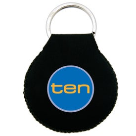Promotional Neoprene Disc Key Chain