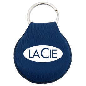 Monogrammed Neoprene Disc Key Chain
