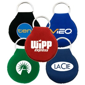 Neoprene Disc Key Chain