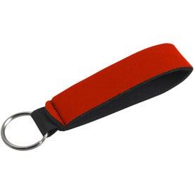 Personalized Neoprene Wrist Strap Key Holder