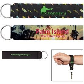 Neoprene Wristband with Key Ring