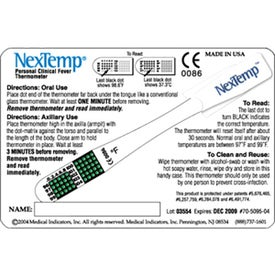 Advertising NexTemp Thermometer