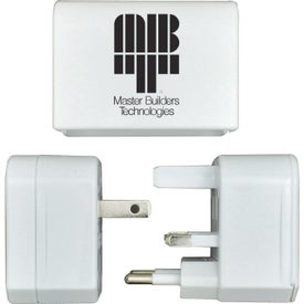 Nomad Travel Adapter Branded with Your Logo