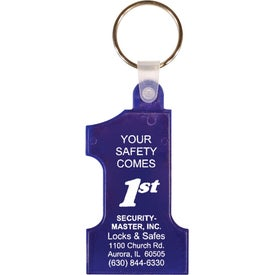 Number One Key Fob Branded with Your Logo