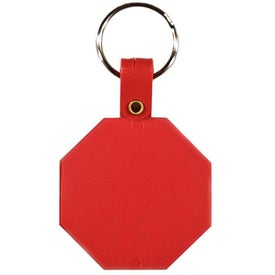 Octagon Key Tag with Your Slogan