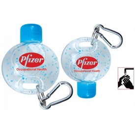 Promotional On-the-Go Carabiner Hand Cleaner