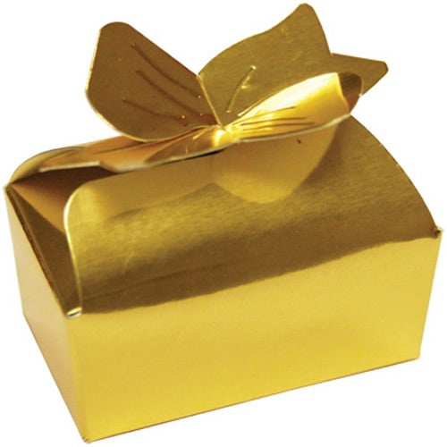 Gold Opera Truffles Bow Box