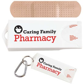 Original White Dispenser with Standard Bandages Branded with Your Logo