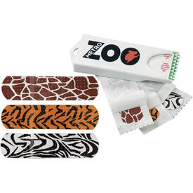 Original White Dispenser with Animal Print Bandages