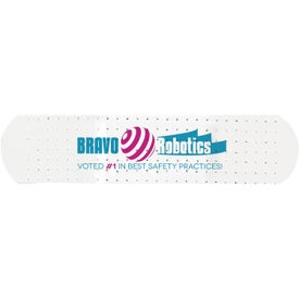 White Dispenser with White Custom Bandages for your School
