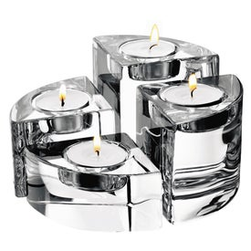 Orrefors Quartet 4 Piece Votive Set
