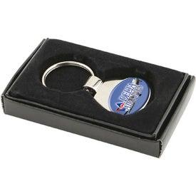 Custom Two Tone Oval Chrome Keychain