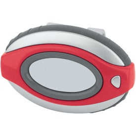 Oval Clip-On Pedometer/ Clock Printed with Your Logo