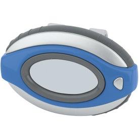 Oval Clip-On Pedometer/ Clock