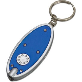 Oval Key Tag Light with Your Slogan