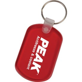 Oval Key Tags Printed with Your Logo