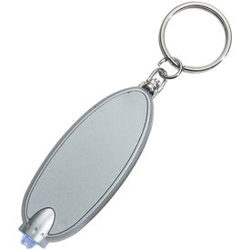 Oval LED Key Chain Branded with Your Logo