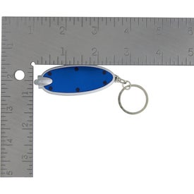 Advertising Oval LED Key Chain