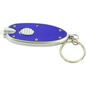 Branded Oval LED Key Chain