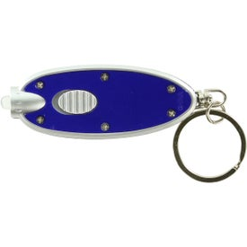 Customized Oval LED Key Chain