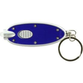 Customized Oval LED Key Chain