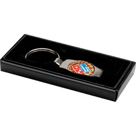Oval Shape 2 Tone Metal Keychain for Marketing
