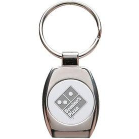 Logo Oval Shape 2 Tone Metal Keychain