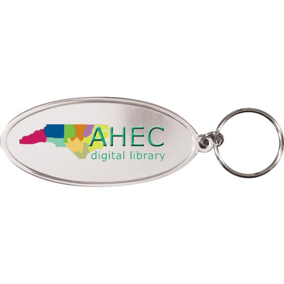 Oval Metal Key Tag