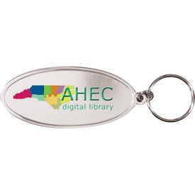 Oval Metal Key Tag (Digitally Printed)