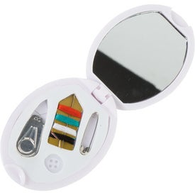 Oval Sew Kit with Mirror with Your Logo