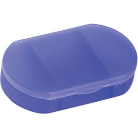 Oval Shape Pill Holder Imprinted with Your Logo