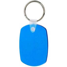 Monogrammed Oval Soft Key Tag