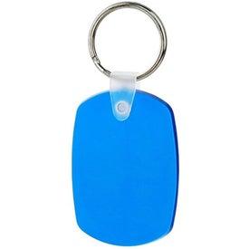 Monogrammed Oval Soft Key Tag
