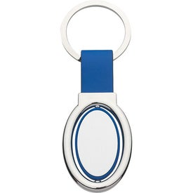 Company Oval Metal Spinner Key Tag