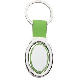 Advertising Oval Metal Spinner Key Tag