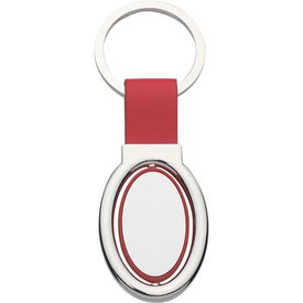 Customized Oval Metal Spinner Key Tag