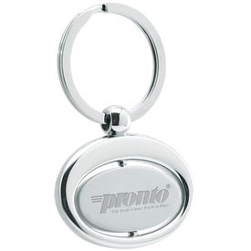 Oval Swivel Metal Keyholder for Your Organization