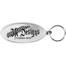 Oval Aluminum Metal Key Tag