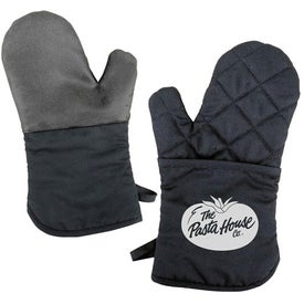 Oven Mitt with Silicone Back