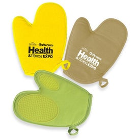 Oven Mitt with Silicone Grips