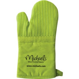 Oven Mitt with Silicone Stripes