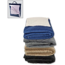 Oversized Sherpa Blankets with Your Logo