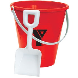 Advertising Pail and Shovel