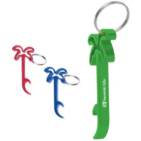 Palm Tree Bottle Opener Key Rings