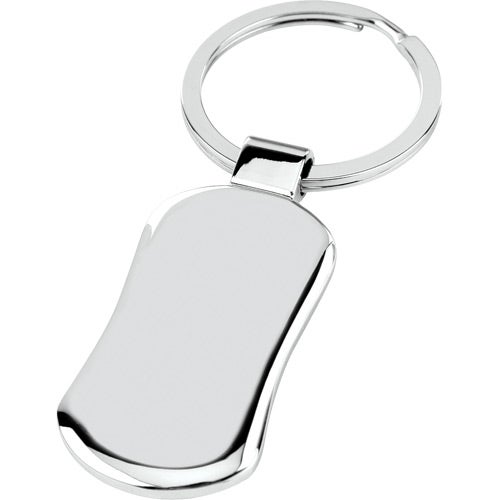 Silver Panel Chrome Key Tag