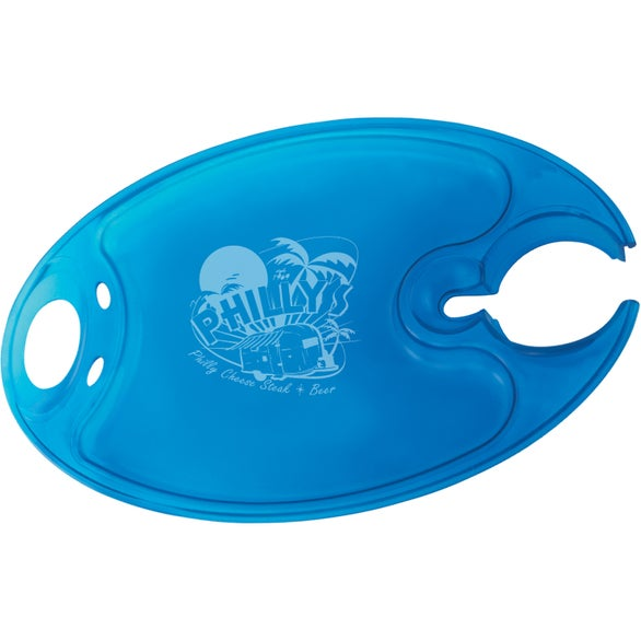 Translucent Blue Party Plate