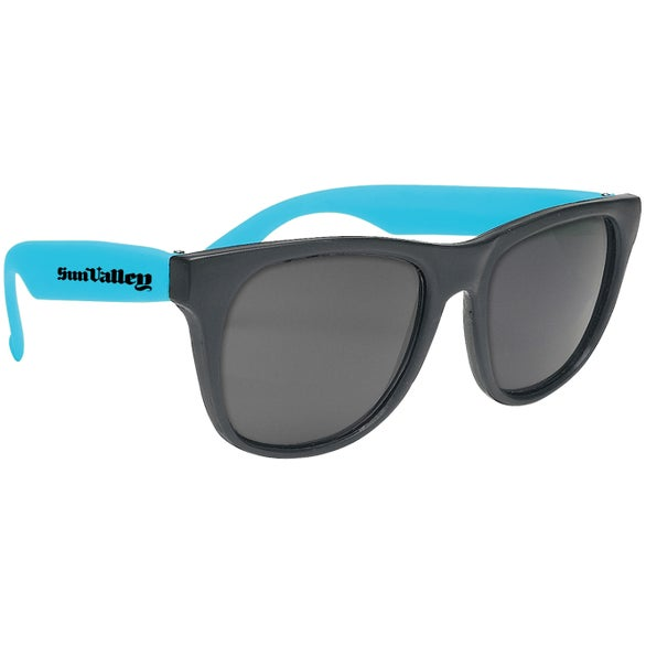 Teal / Black Party Sunglasses